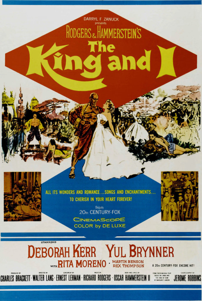 The King and I movies starring Yul Brynner and Deborah Kerr