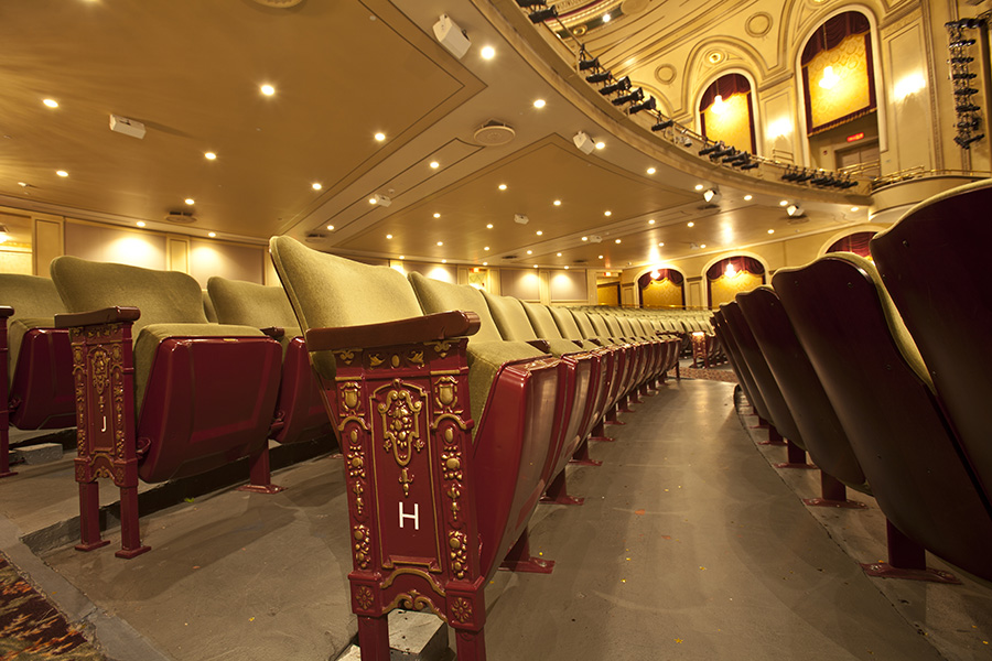 Close up of seats at The Hanover Theatre in row H. Photo credit Judy Barrete.